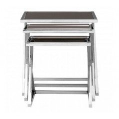 Ackley Nesting Tables Triangle Silver