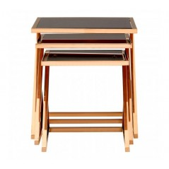 Ackley Nesting Tables Triangle Rose Gold