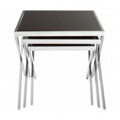 Ackley Nesting Tables X Silver