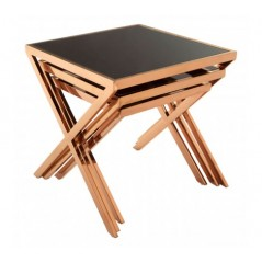 Ackley Nesting Tables X Rose Gold