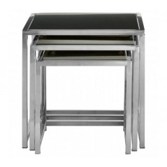 Ackley Nesting Tables Square Black