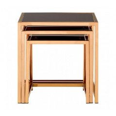 Ackley Nesting Tables Square Gold