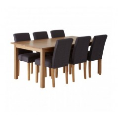 Harris Dining Set 7Pc Grey