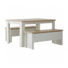 St. Ives Dining Set Small White