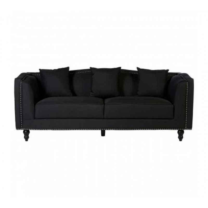 Feya 3 Seat Sofa Black