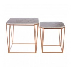 Arcana Side Table Octagonal Rose Gold