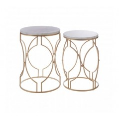 Arcana Side Table Hourglass Gold