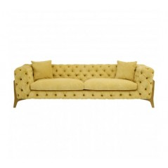 Esme 3 Seat Sofa Yellow