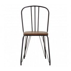 District Dining Chair Cylinder Black