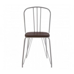 District Dining Chair Cylinder Grey
