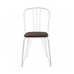District Dining Chair Cylinder White