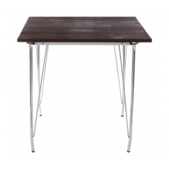 District Dining Table Square Chrome