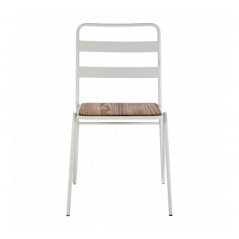 District Dining Chair Stripes White