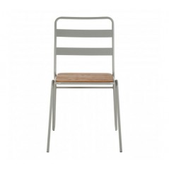District Dining Chair Stripes Grey