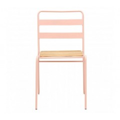 District Dining Chair Stripes Pink