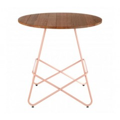 District Dining Table Round Pink