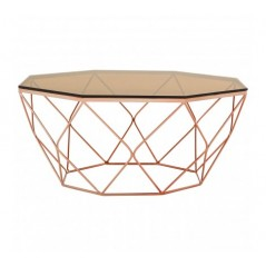 Allure Coffee Table Geometry Diamond Rose Gold