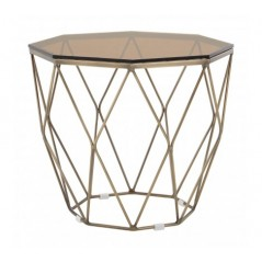 Allure End Table Geometry Diamond Bronze