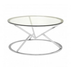Allure Coffee Table Geometry Round Silver
