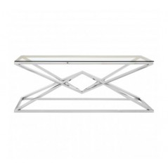 Allure Coffee Table Geometry Rectangular Silver