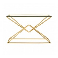 Allure Console Table Geometry Rectangular Gold