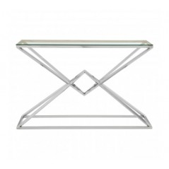 Allure Console Table Geometry Rectangular Silver