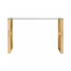 Davis Console Table Box Rectangular Gold