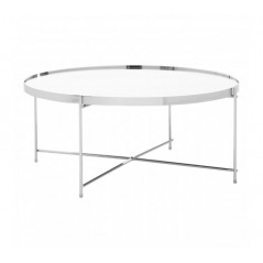 Allure Coffee Table Round Silver