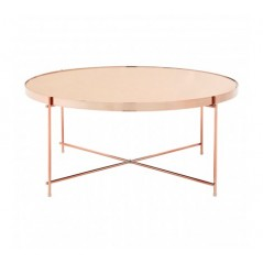 Allure Coffee Table Round Rose Gold