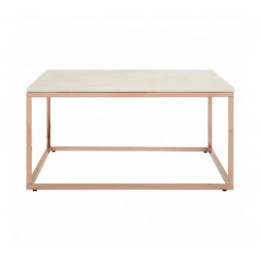 Allure Coffee Table Marble Square Rose Gold