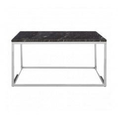 Allure Coffee Table Marble Square Silver