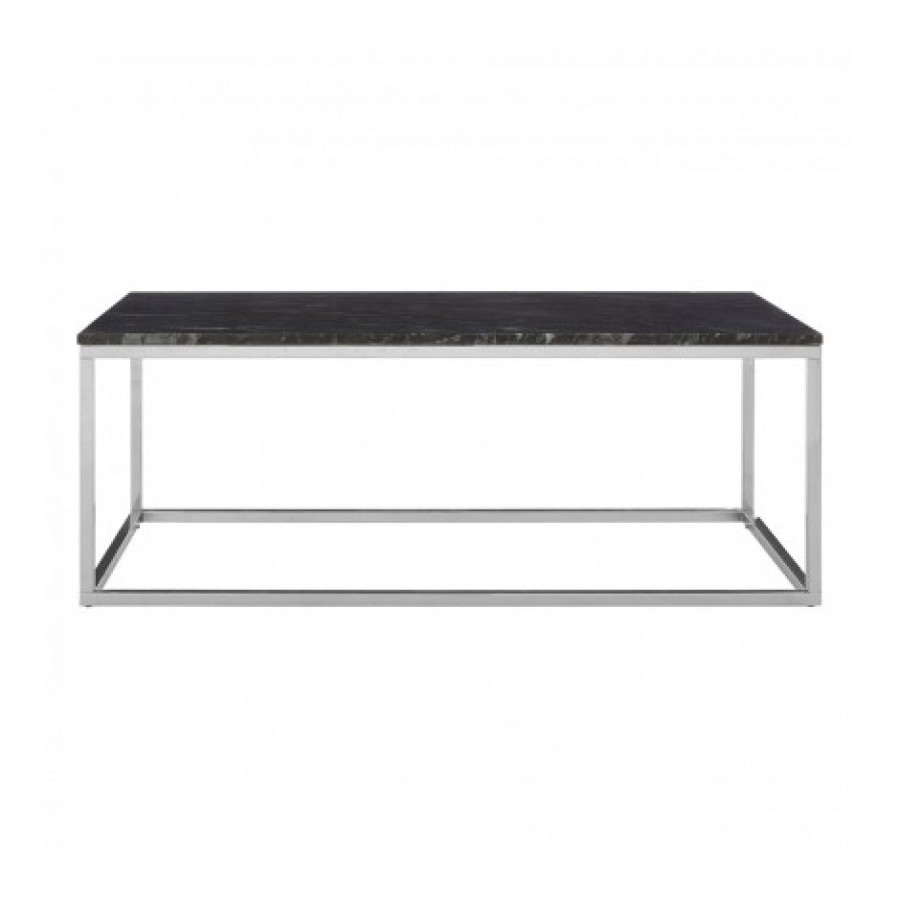 Marble And Silver Coffee Table.Allure Coffee Table Marble Rectangular Silver