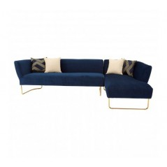 Renee Corner Sofa Blue