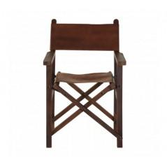 Barnes Folding Chair Brown
