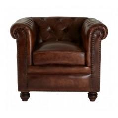 Barnes Chesterfield Chair Dark Brown