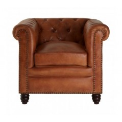 Barnes Chesterfield Chair Light Brown