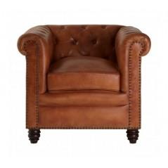 Barnes Chesterfield Chair Light Brown