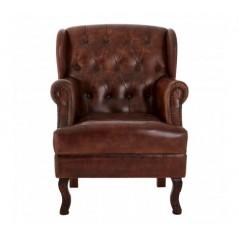 Barnes Wing Chair Dark Brown