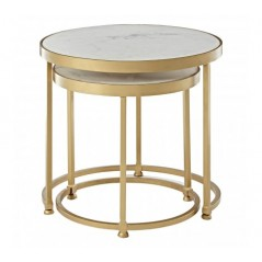 Nirav Nesting Tables Brass