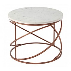 Nirav Coffee Table Round Copper