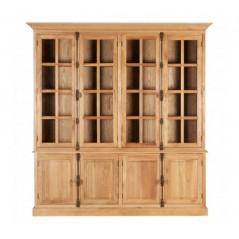 Lyon Display Cabinet Double Brown
