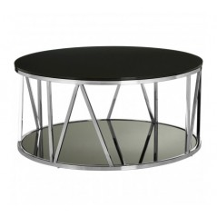 Alvaro Coffee Table Line Silver