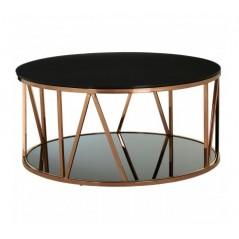 Alvaro Coffee Table Line Rose Gold