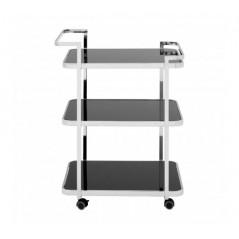 Alvaro Kitchen Trolley Straight Silver