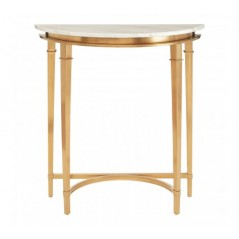 Alvaro Console Table Semi-Circular Gold