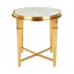 Alvaro Side Table Elegant White