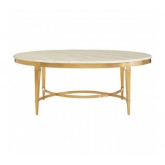 Alvaro Coffee Table Semi-Circular Gold