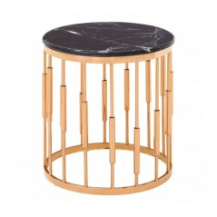 Alvaro Side Table Cylinder Rose Gold