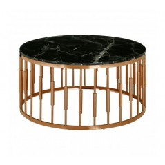 Alvaro Coffee Table Cylinder Rose Gold
