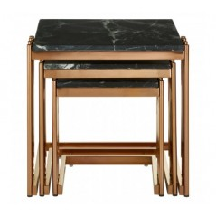 Alvaro Nesting Tables Stick Rose Gold